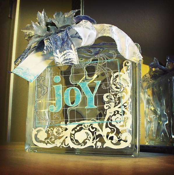 Ice Block Christmas Decoration