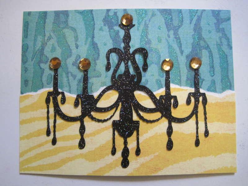 Chandelier Card Topper