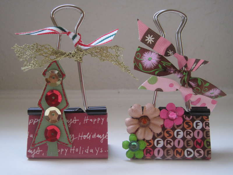 More AdOraBle altered binder clips
