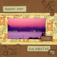 Sunset Over KALAMATA