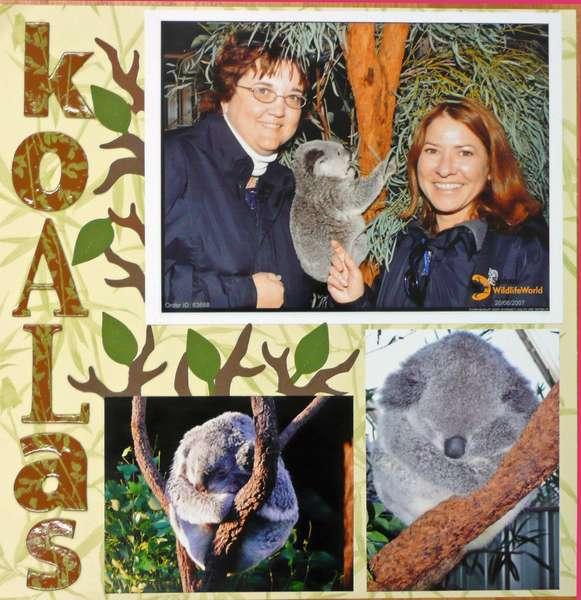 Koalas - left page