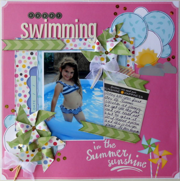 Gabby Swimming ~My Creative Scrapbook DT~