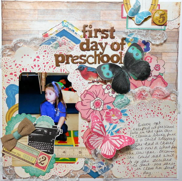 First Day Of Preschool ~My Creative Scrapbook DT~