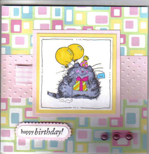 Balloons and Kitty - Happy Birthday