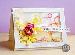 Make a Wish Shaker Card