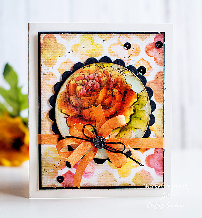 Digital Rose and Watercolors