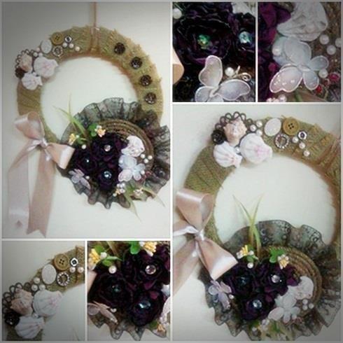 Jute wreath