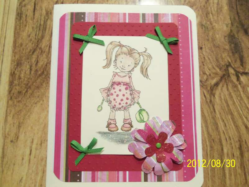 First card made with ebosser machine