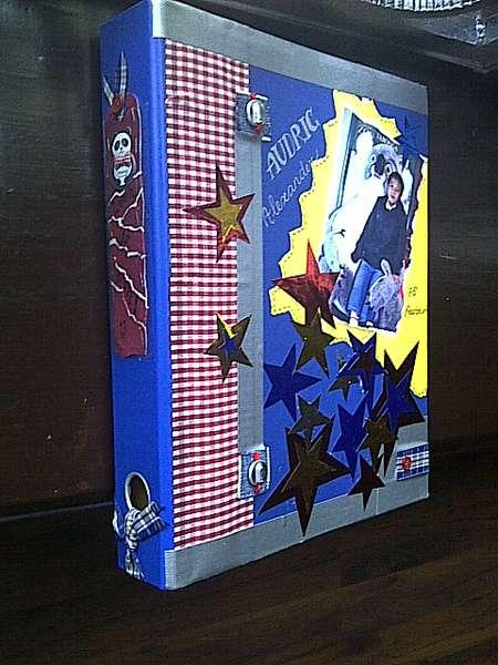 Decorated folder