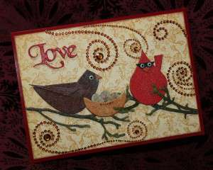 Retro Bird Card by Joe Morgan