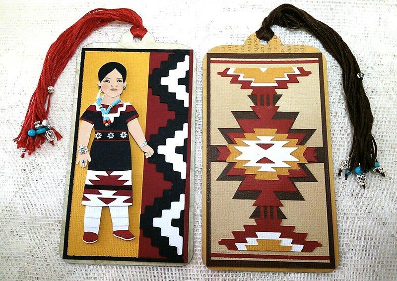 Navajo rug design bookmark