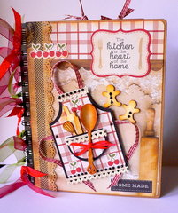 Recipe Book created with Bon Appetit Paper collection, Kaisercraft