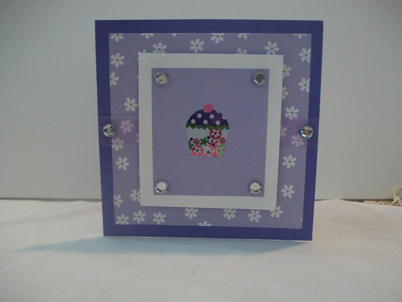 Purple Birthday Cupcake Card