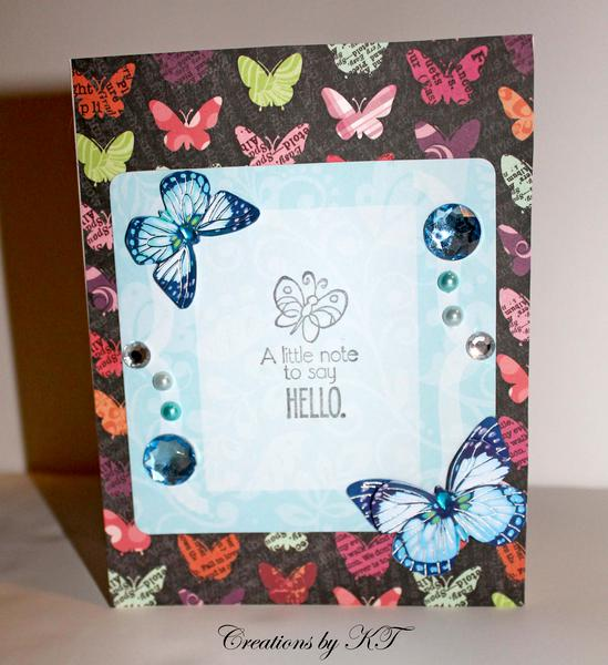Hello Butterfly Card 2