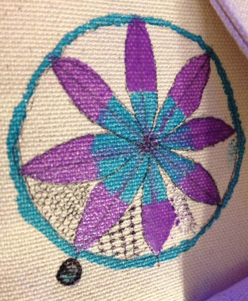 Close up of photibag zentangle