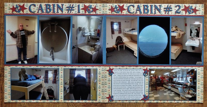 Cabin #1 and #2, Alaska Ferry