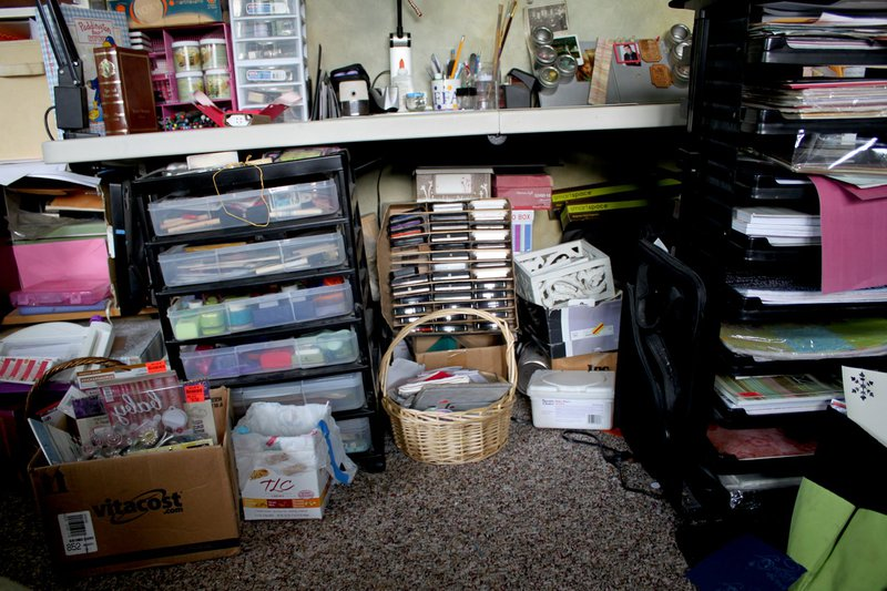 Scarping space before organizing