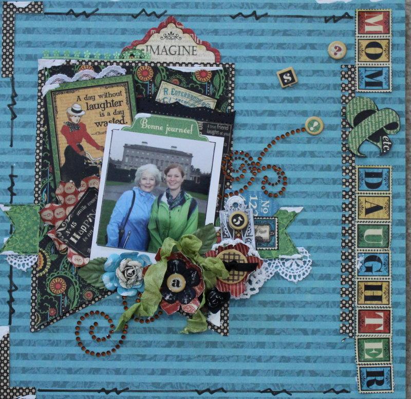 "Mom & daughter ""Graphic 45 Oct. challenge"""