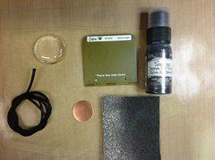 Items used for September Flower Challenge - Black