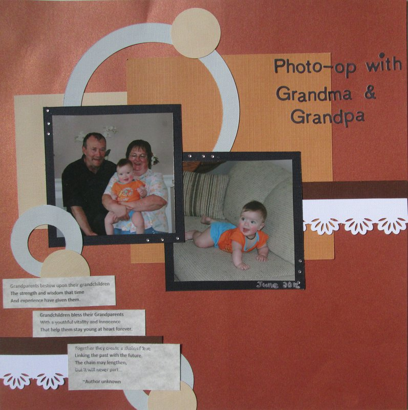 Photo-op with Grandma & Grandpa