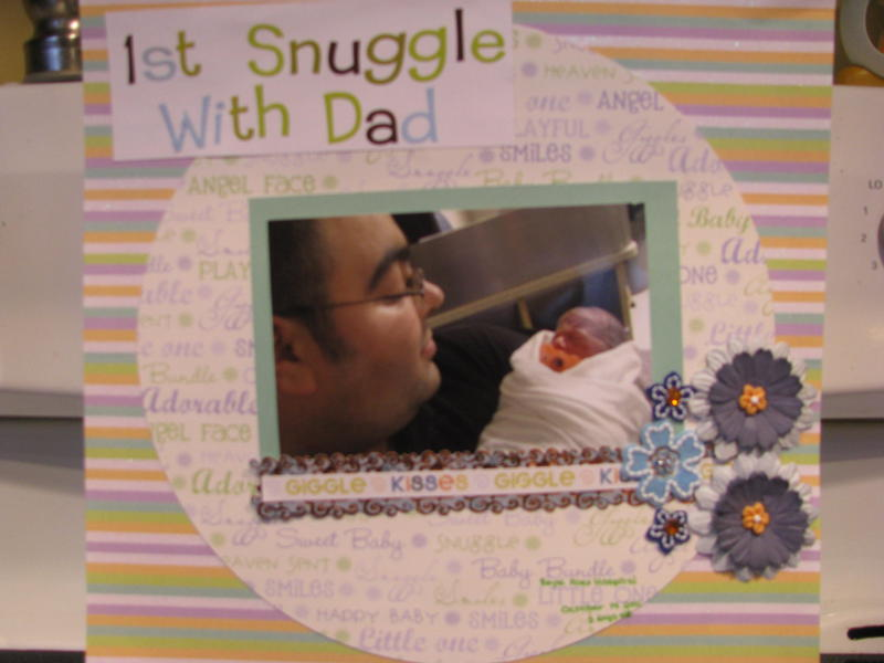 1st Snuggle with Daddy