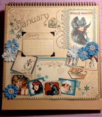Graphic 45 January Calendar page (Revamp)