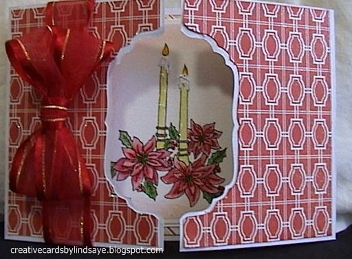 Poinsettia with Candles