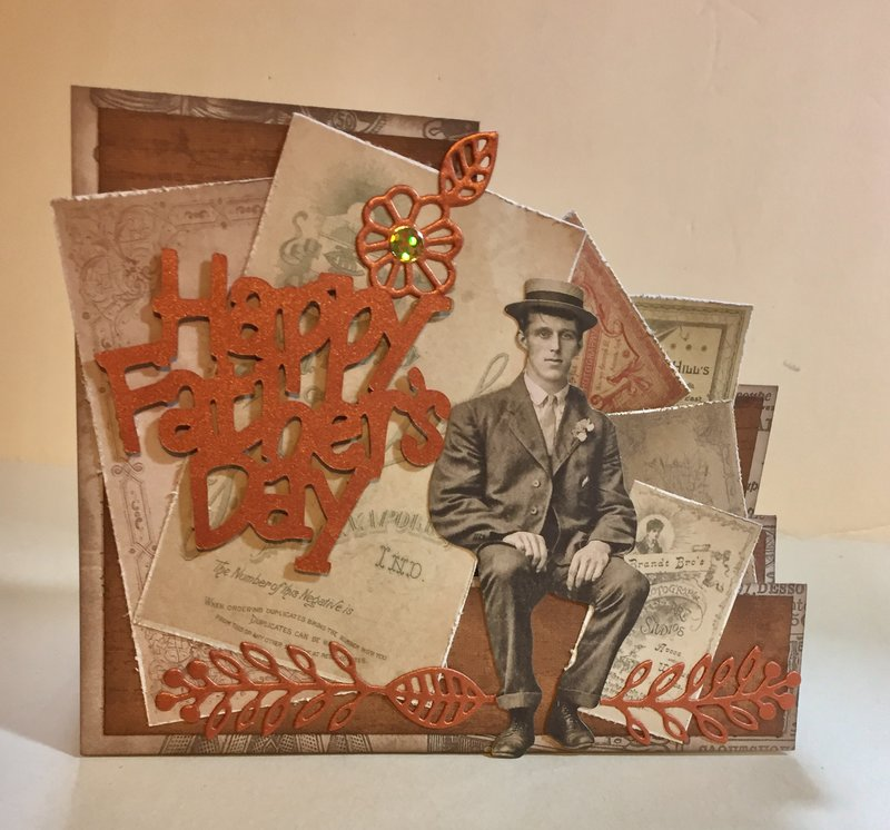 Happy Fathers Day step card