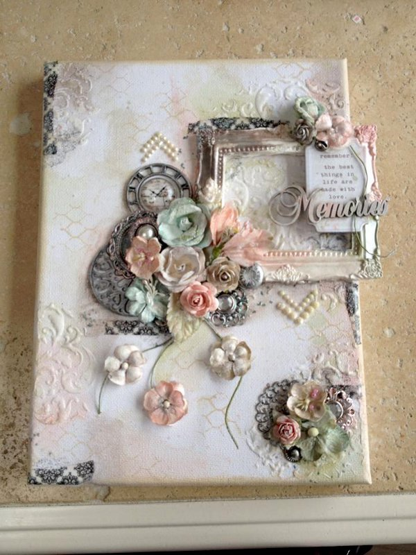 Mixed Media Canvas using Lindy's Stamp Gang sprays