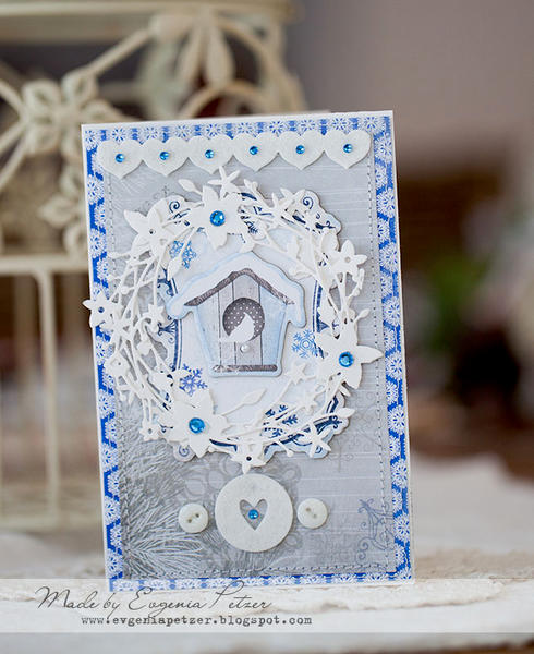 Winter bird house **SCRAPS OF ELEGANCE**