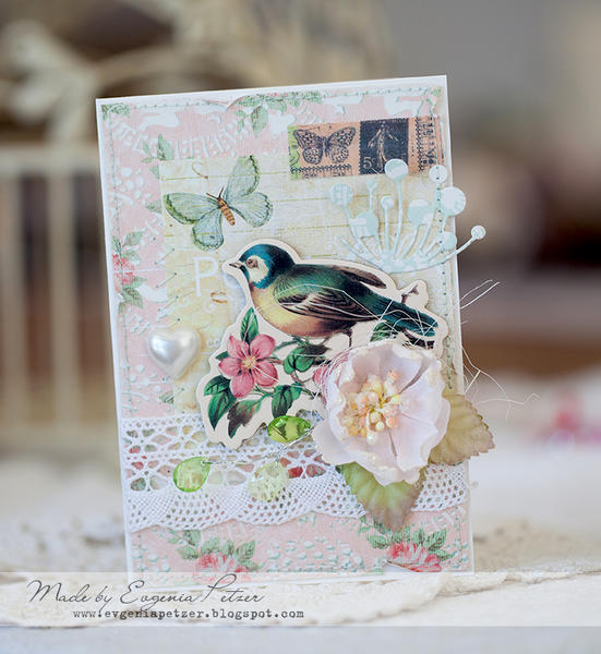 Bird card *Scraps of Elegance* March reveal