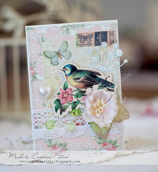 Bird card *Scraps of Elegance* March reveal