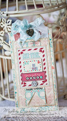 Bo Bunny DT project, love letters tag