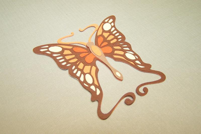 April Die Cut Swap/Butterfly