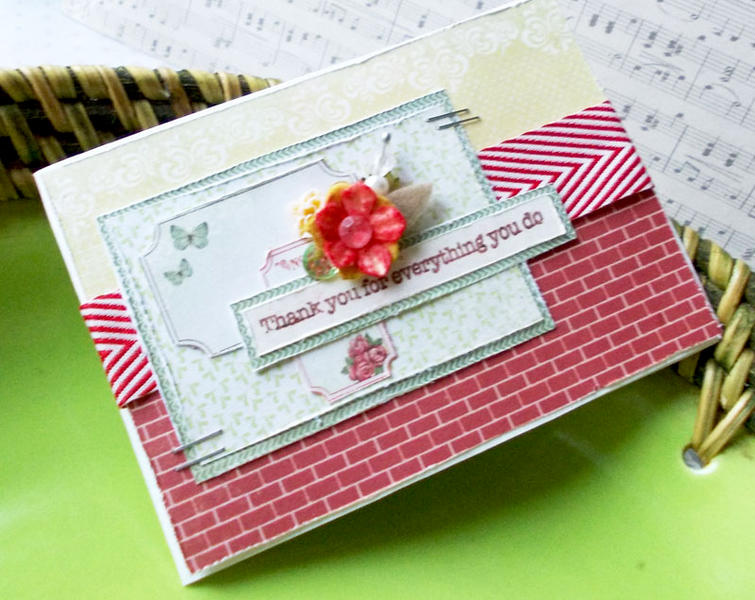 Thank card for SP stamps and Pion Designs DT