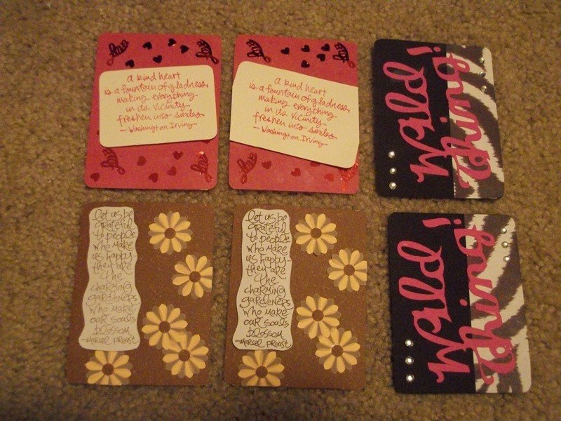 Project Life Swap Filler Cards