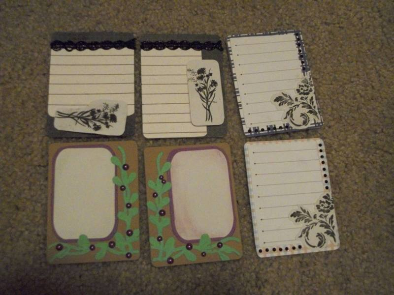 Project Life Swap Journal Cards