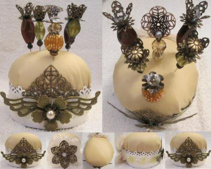 Pincushion With Metal Pieces