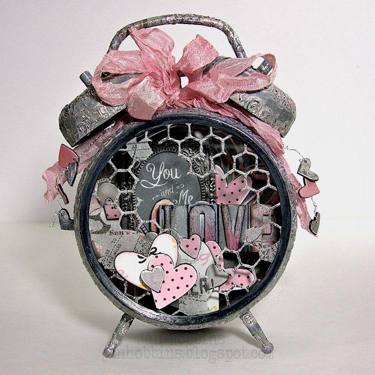 Altered Valentine's Clock
