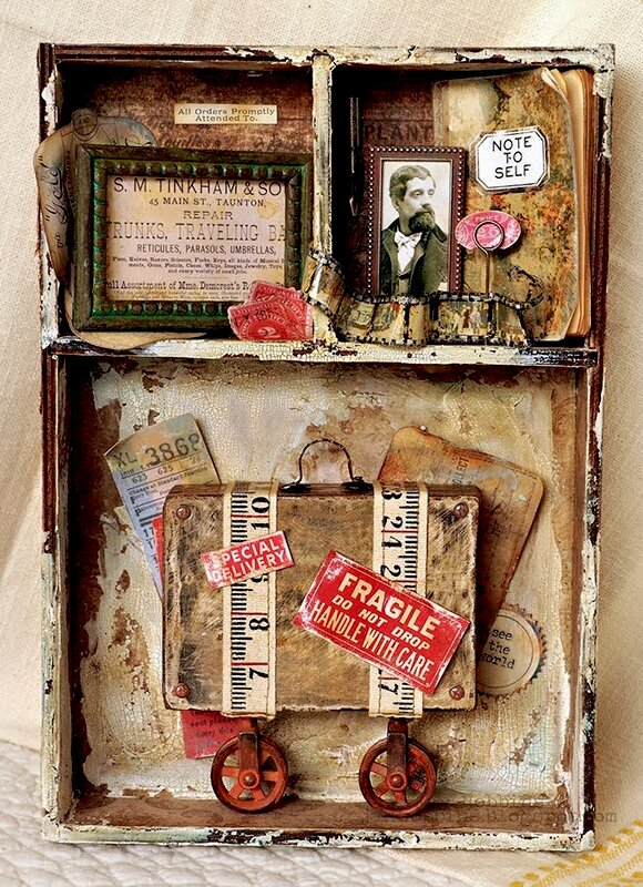 Tim Holtz Divided Vignette Box