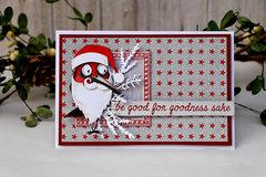 Crazy Santa Bird Card