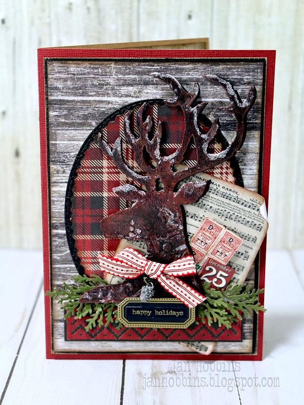 Dashing Deer Christmas Card