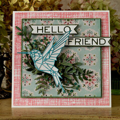 Geo Hummingbird Card