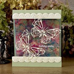 Geo Butterfly Card