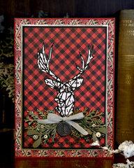 Geo Deer Christmas Card