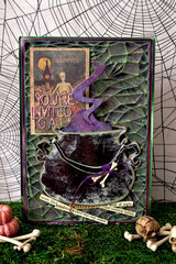 Halloween Invitation - Tim Holtz Sizzix Chapter 3