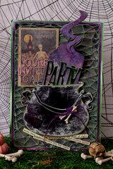 Halloween Invitation - Tim Holtz Sizzix Chapter 3