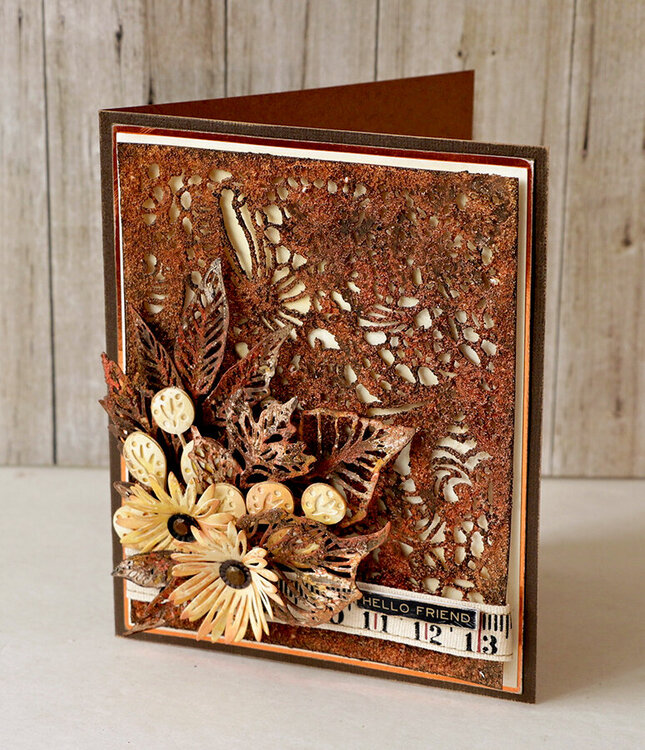 Intricate Lace Card- Sizzix Chapter 2