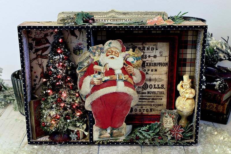 Santa Divided Vignette Box