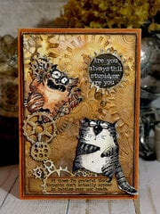 Snarky Cats & Gears Card